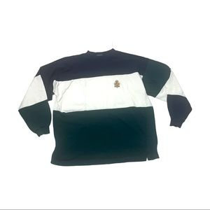 Vintage Hunting Horn classic color block shirt